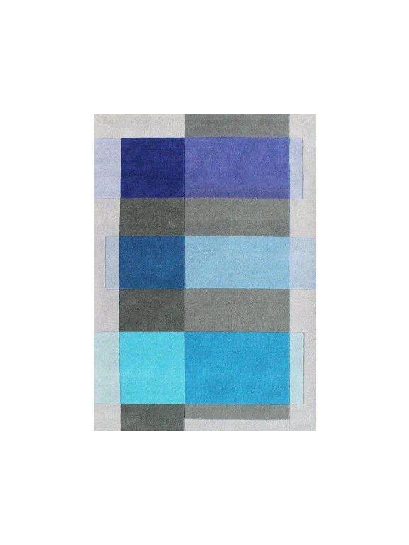 Delaware Hand Woven Wool Gray/Blue Indoor Area Rug Rug Size: 5' x 8'