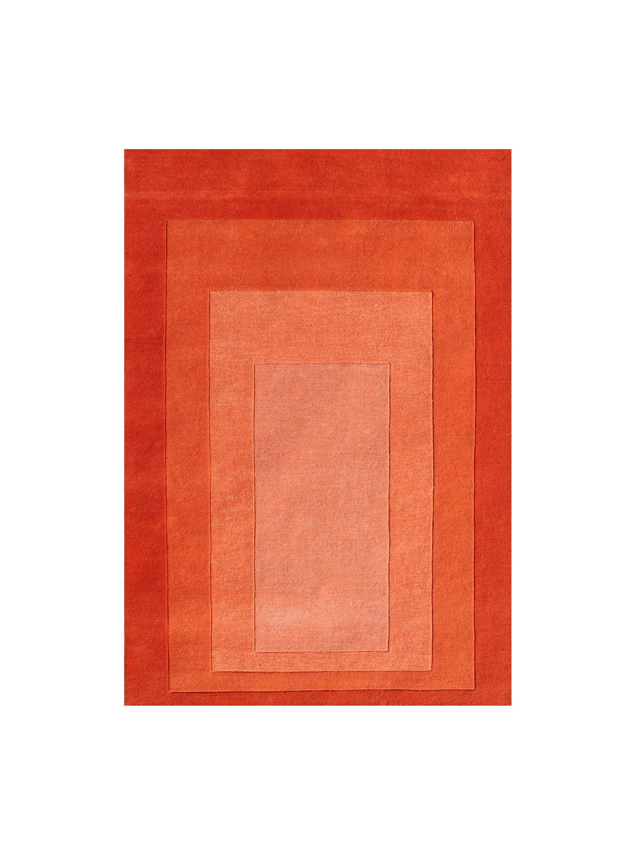 Delaware Hand Woven Wool Orange Indoor Area Rug Rug Size: 8' x 10'