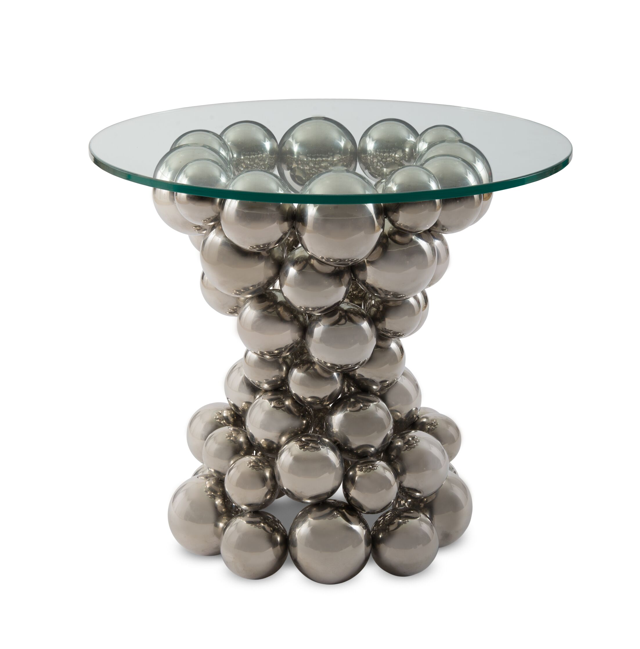 Frizzante End Table Color: Silver