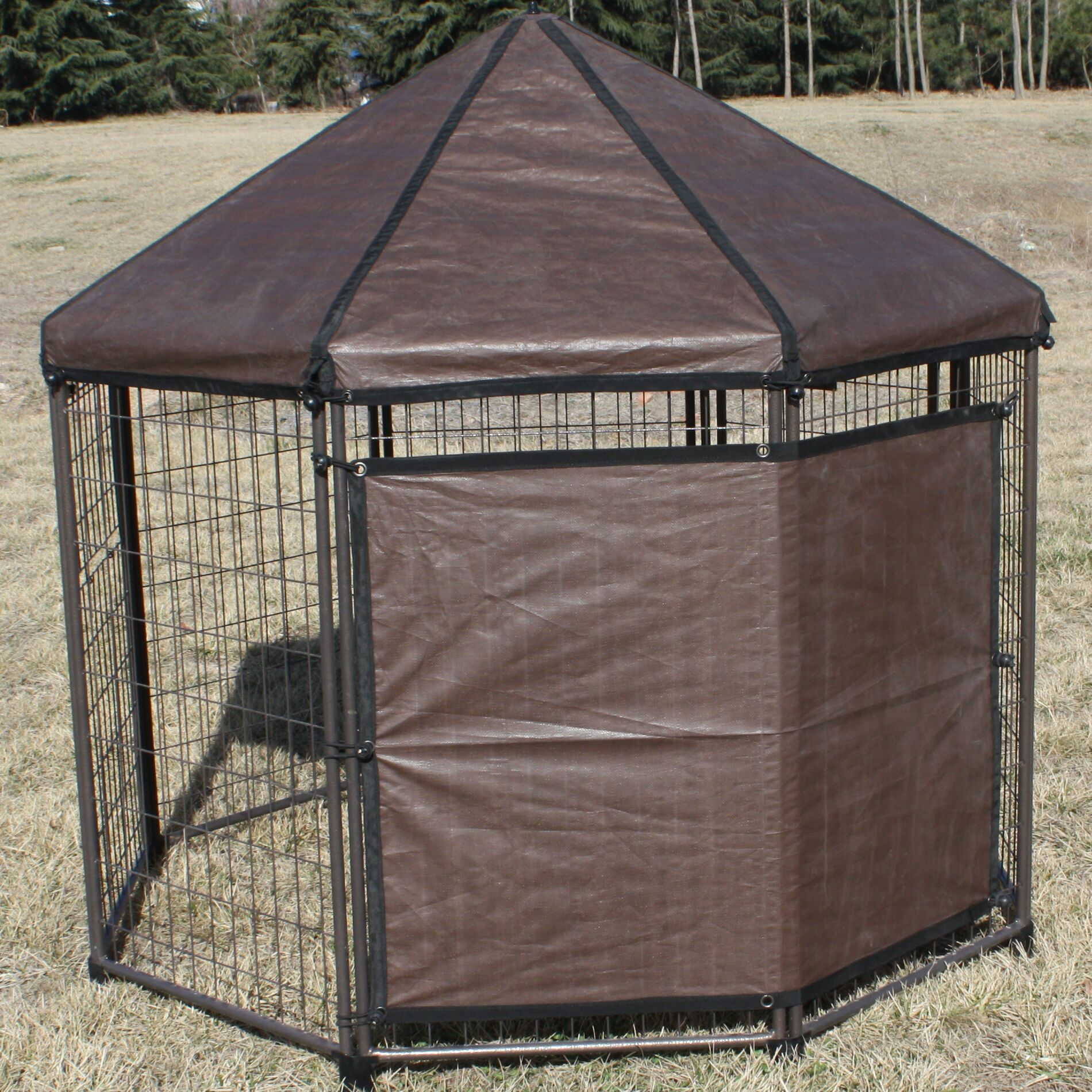 Gilberto Original Pet Gazebo Sun Shade Crate Cover Size: 44