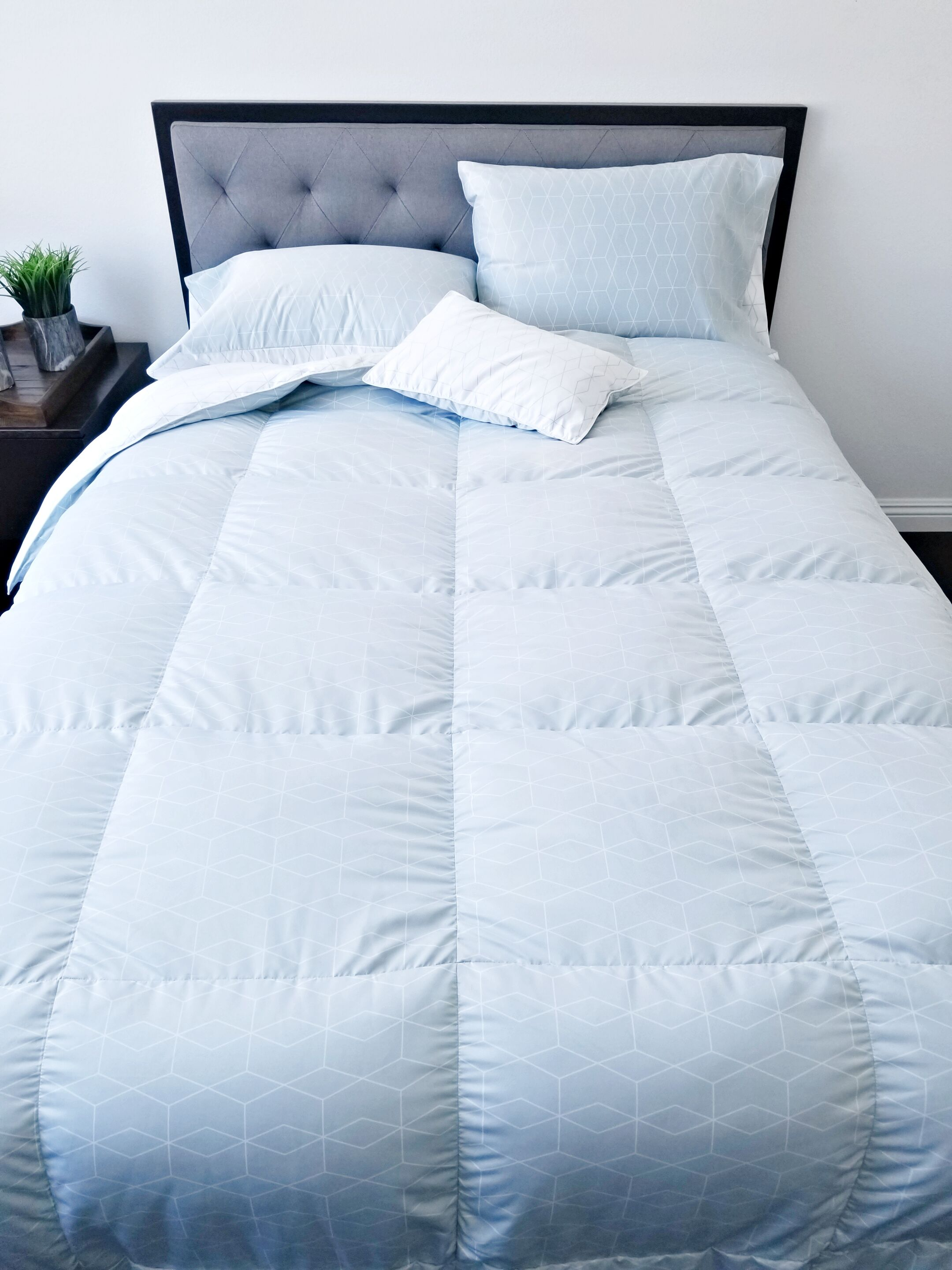 Sewn Down Comforter Size: King/California King, Fill Warmth: Midweight