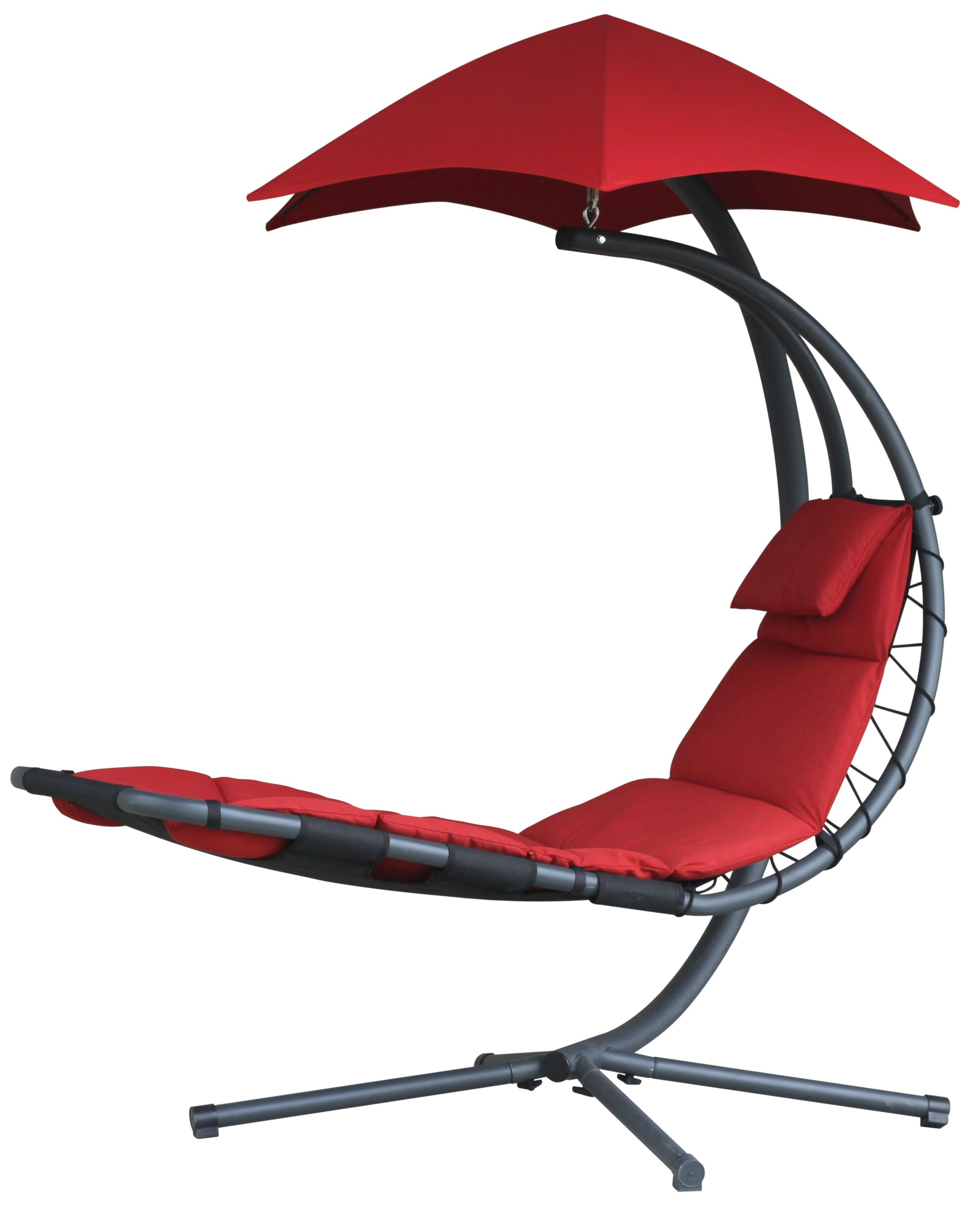 Maglione Hanging Chaise Lounger Color: Cherry Red