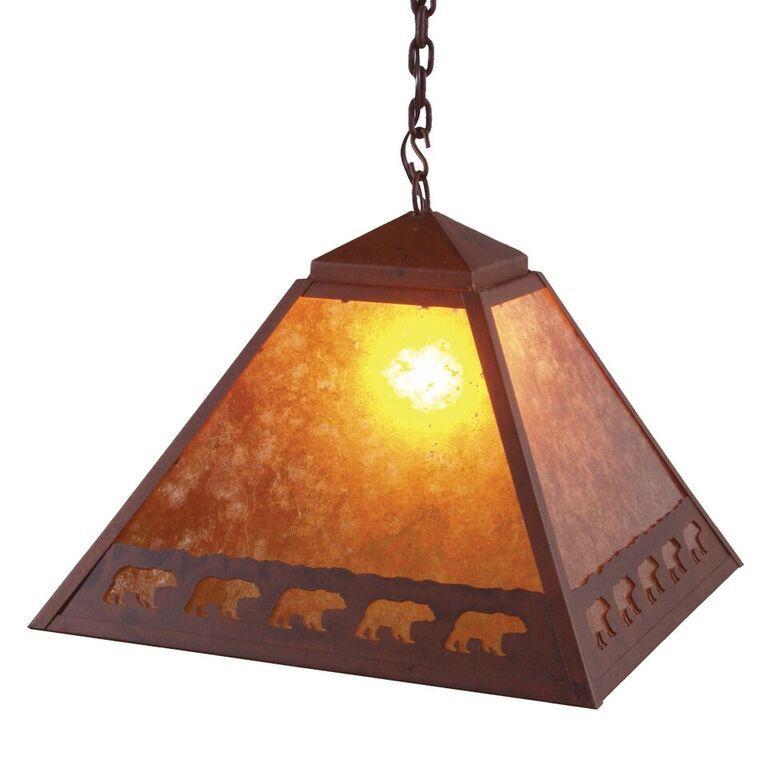 Band of Bears 1-Light Dome Pendant