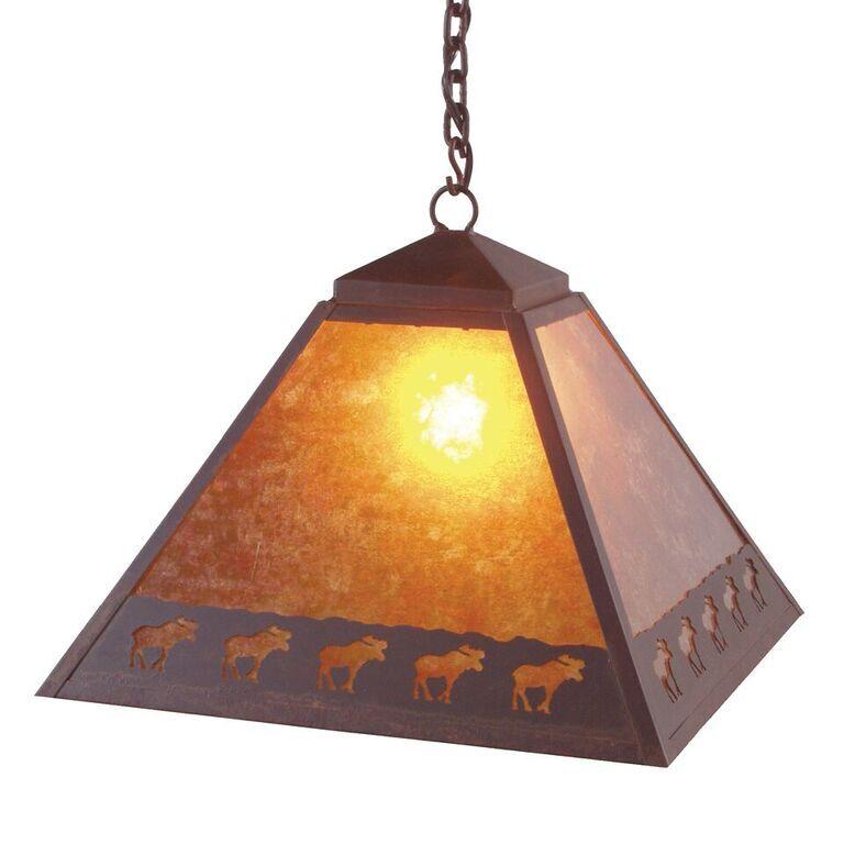 Band of Moose 1-Light Dome Pendant