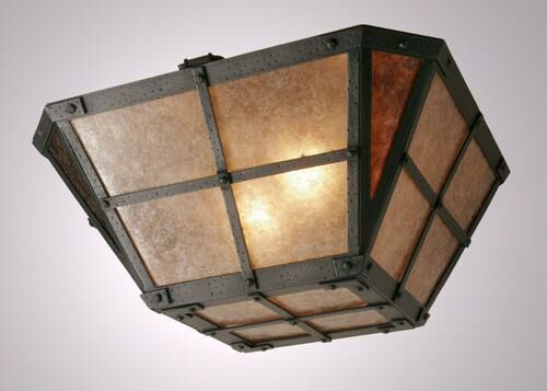 San Carlos Drop Semi Flush Mount Ceiling Light Finish: Mountain Brown, Shade Color: Khaki
