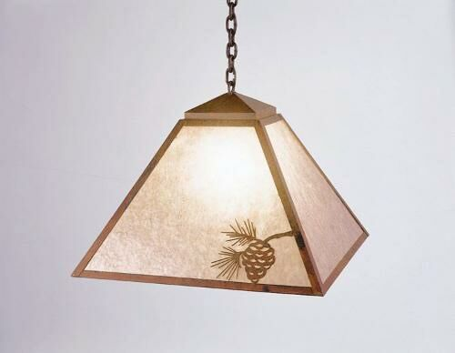 Mission 1-Light Dome Pendant Finish: Rust, Shade / Lens: Amber Mica