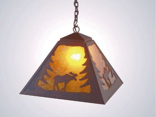 Moose 1-Light Dome Pendant Finish: Old Iron, Shade / Lens: Khaki