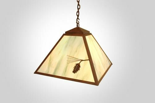 Ponderosa Pine 1-Light Dome Pendant Finish: Architectural Bronze, Shade / Lens: Bungalow Green