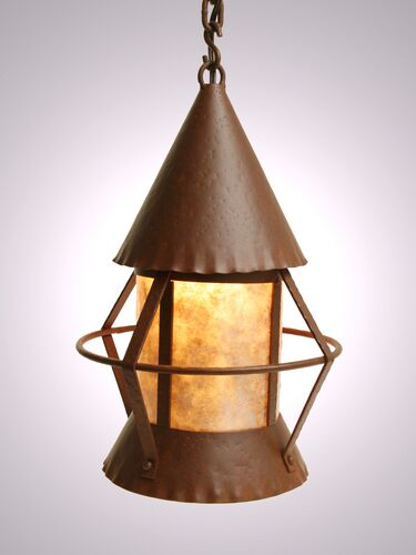 Gig Harbor 1-Light Pendant Finish: Rust, Shade / Lens: Slag Glass Pretended
