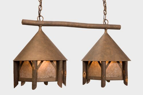 Campromise Double Anacosti Light Pendant Finish: Mountain Brown, Shade / Lens: Khaki