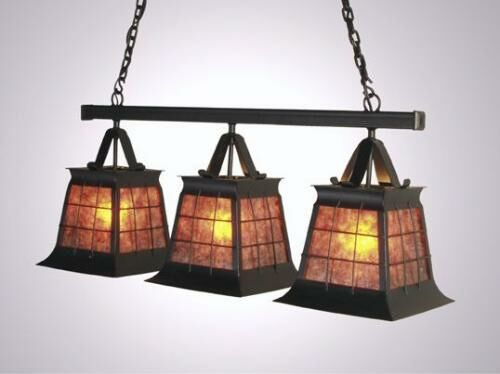 Top Ridge Triple Anacosti Light Pendant Finish: Architectural Bronze, Shade / Lens: Bungalow Green