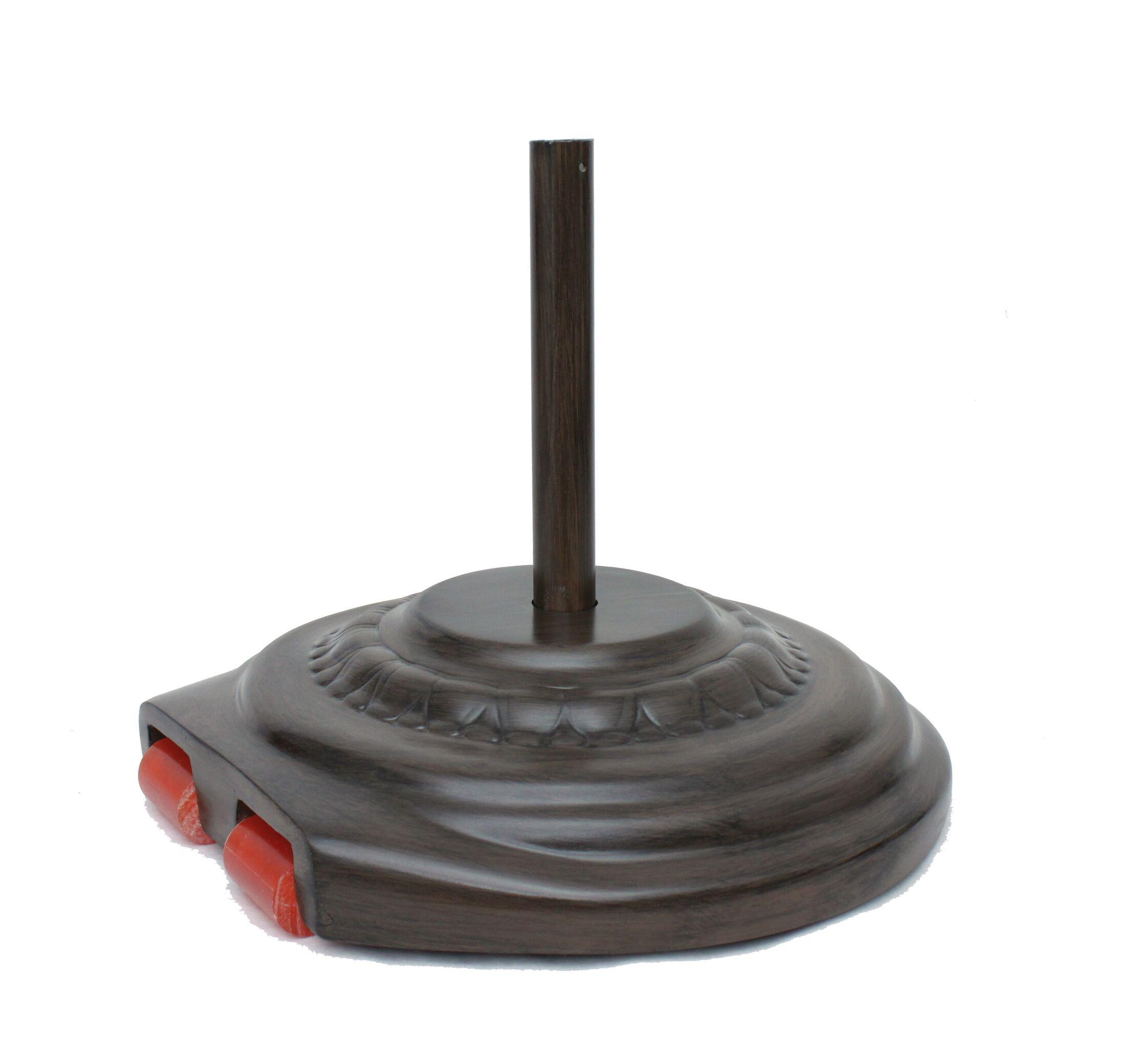 Fiberglass Free Standing Umbrella Base Weight: 150, Color: Chestnut