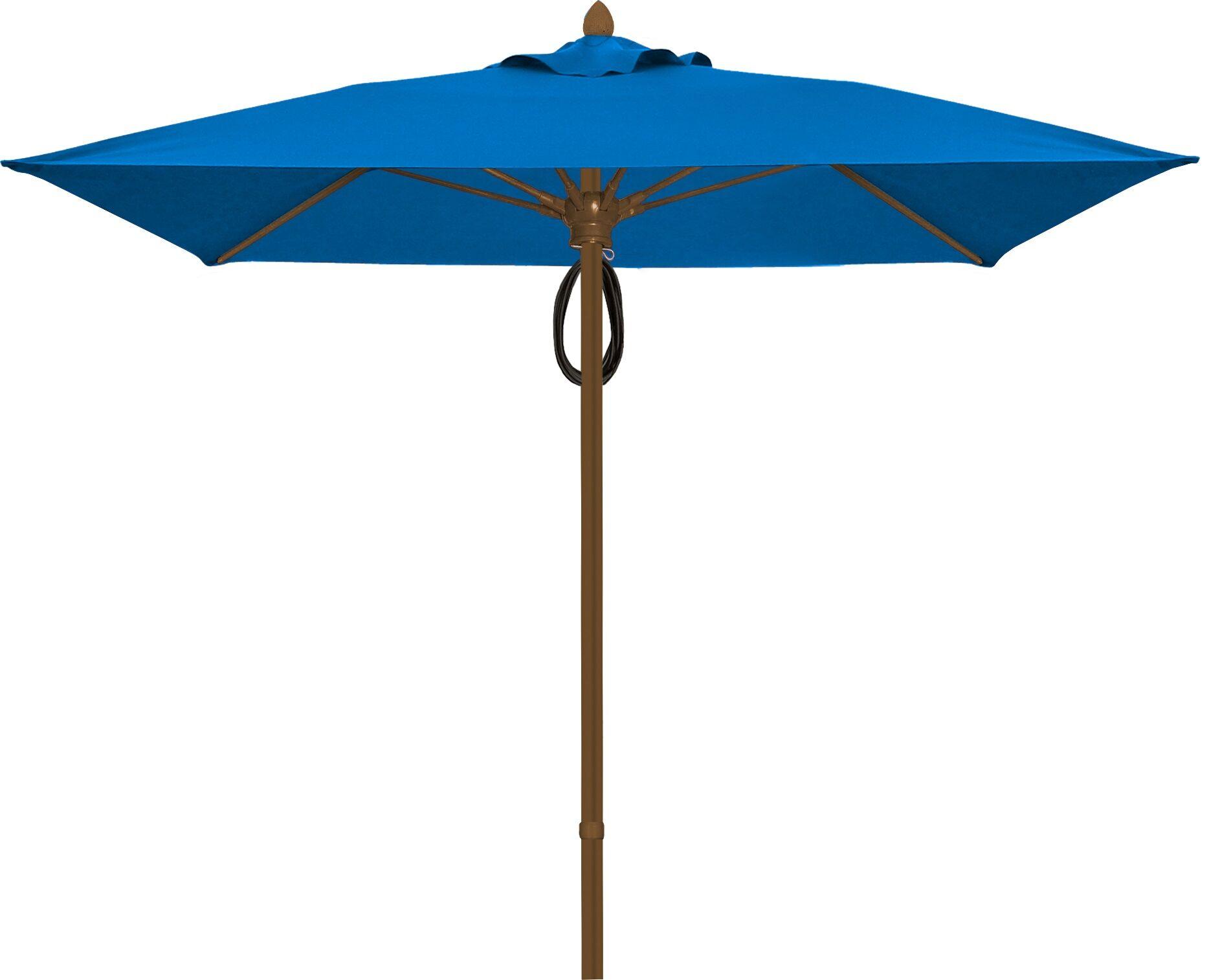 Prestige 6' Square Market Umbrella Frame Finish: Champagne Bronze, Fabric: Pacific Blue