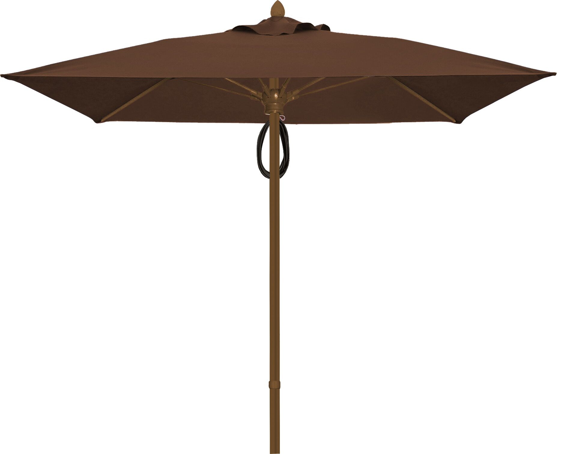Prestige 7.5' Square Market Umbrella Frame Finish: White, Fabric: True Brown