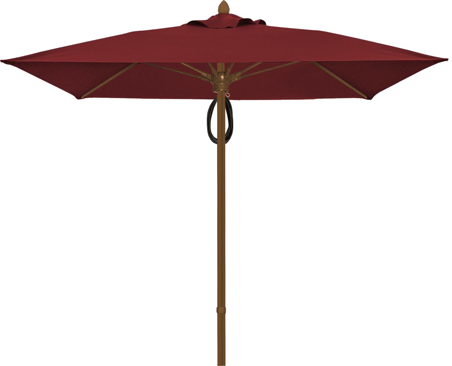 Prestige 7.5' Square Market Umbrella Frame Finish: White, Fabric: Burgundy