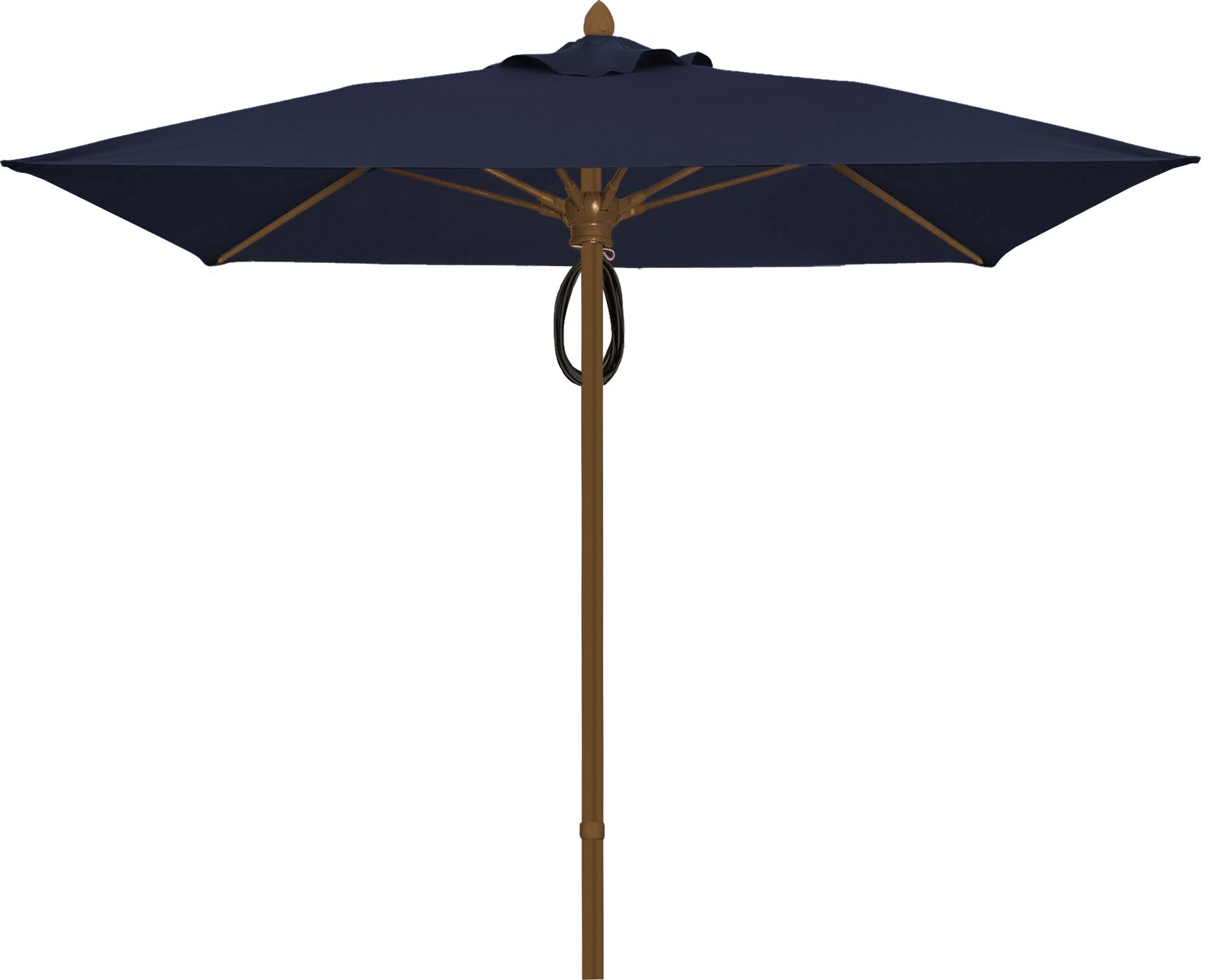 Prestige 6' Square Market Umbrella Frame Finish: Champagne Bronze, Fabric: Captain Navy