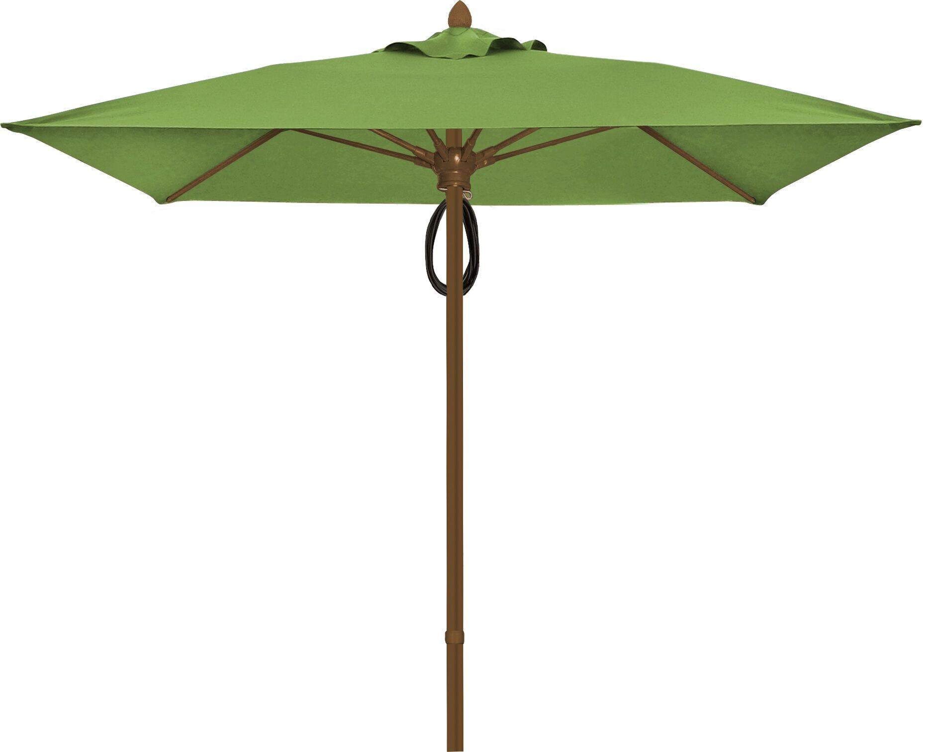 Prestige 7.5' Square Market Umbrella Frame Finish: Champagne Bronze, Fabric: Macaw