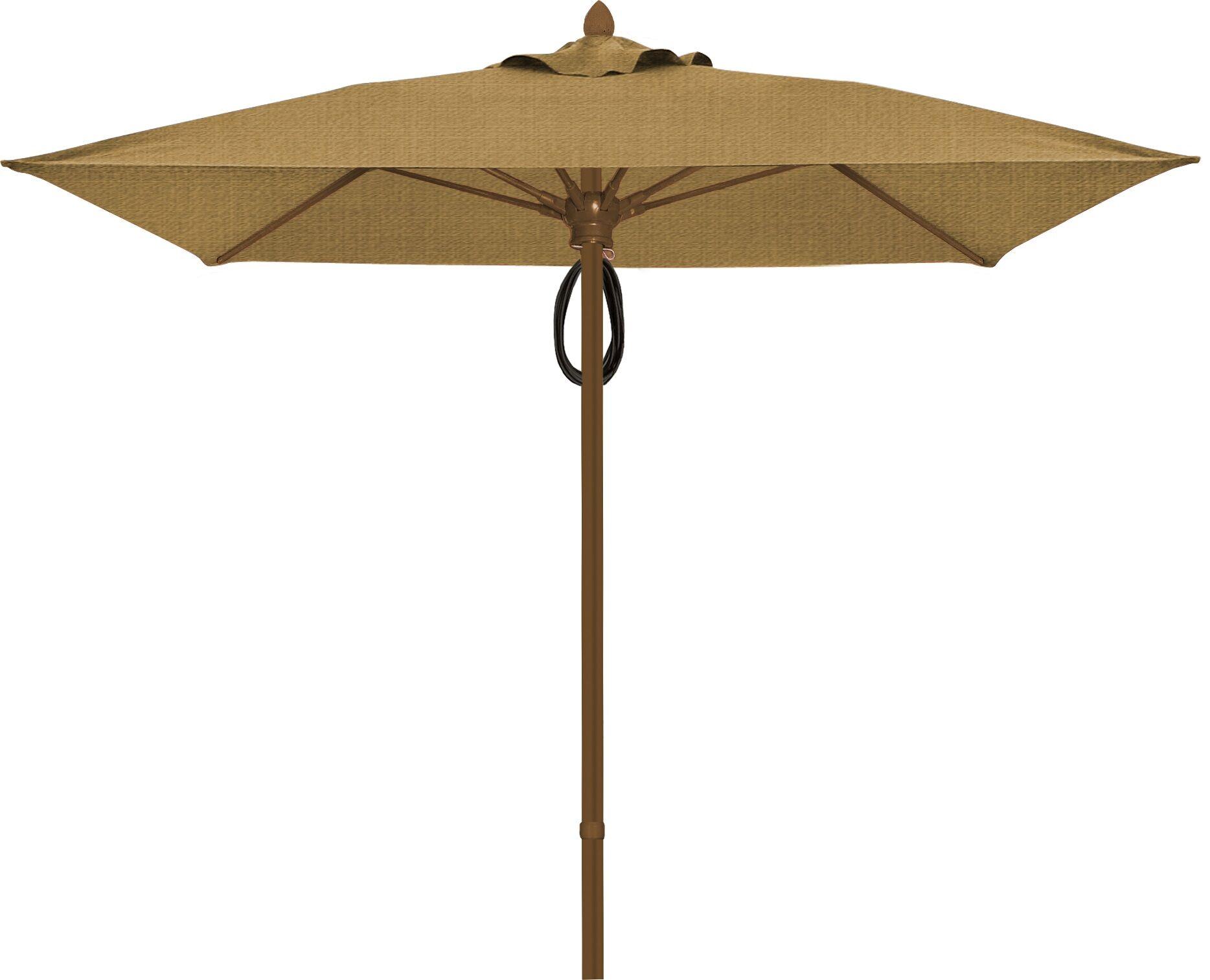 Prestige 6' Square Market Umbrella Fabric: Silica Barley, Frame Finish: Champagne Bronze