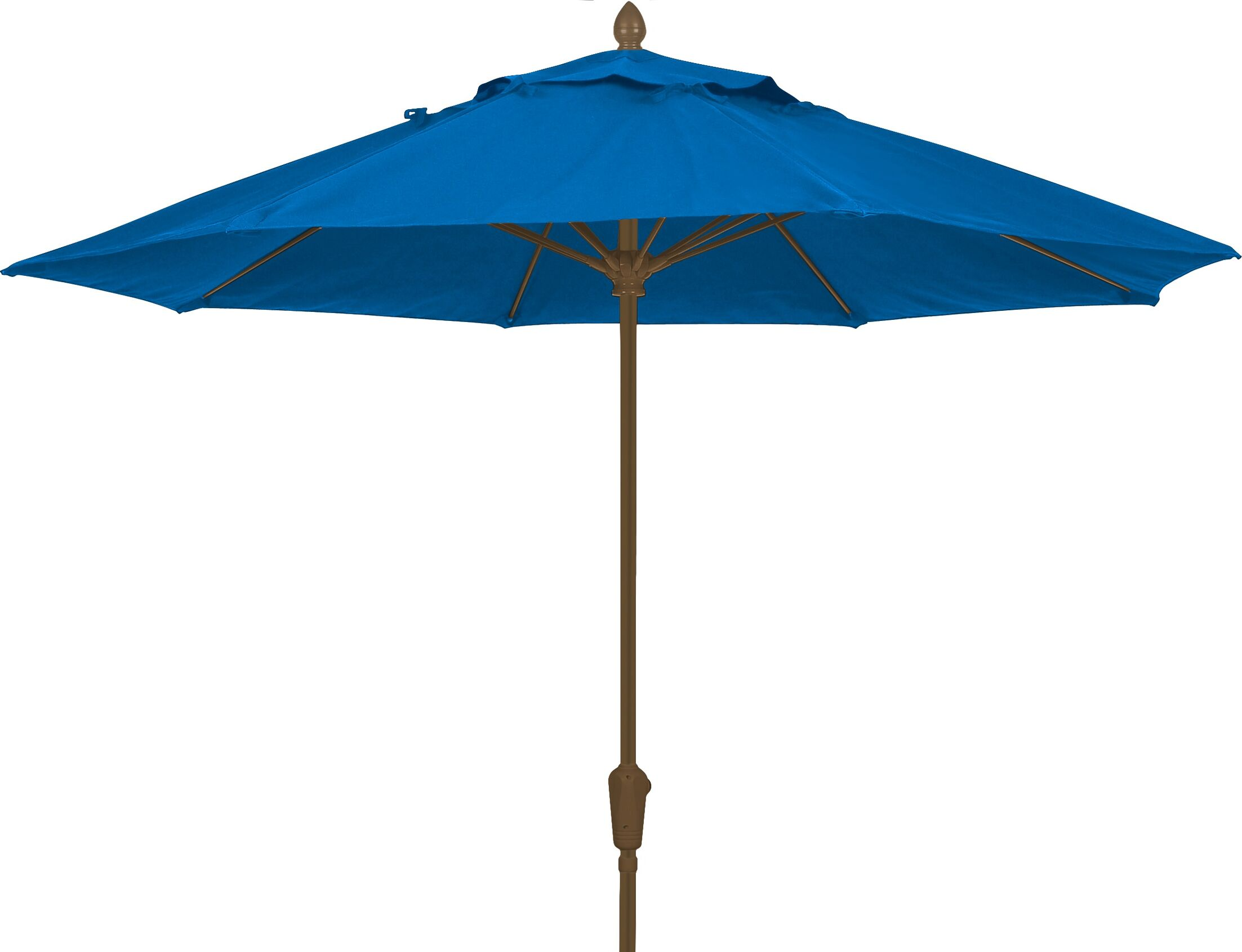 Prestige 7.5' Market Umbrella Fabric: Pacific Blue, Frame Finish: Champagne Bronze