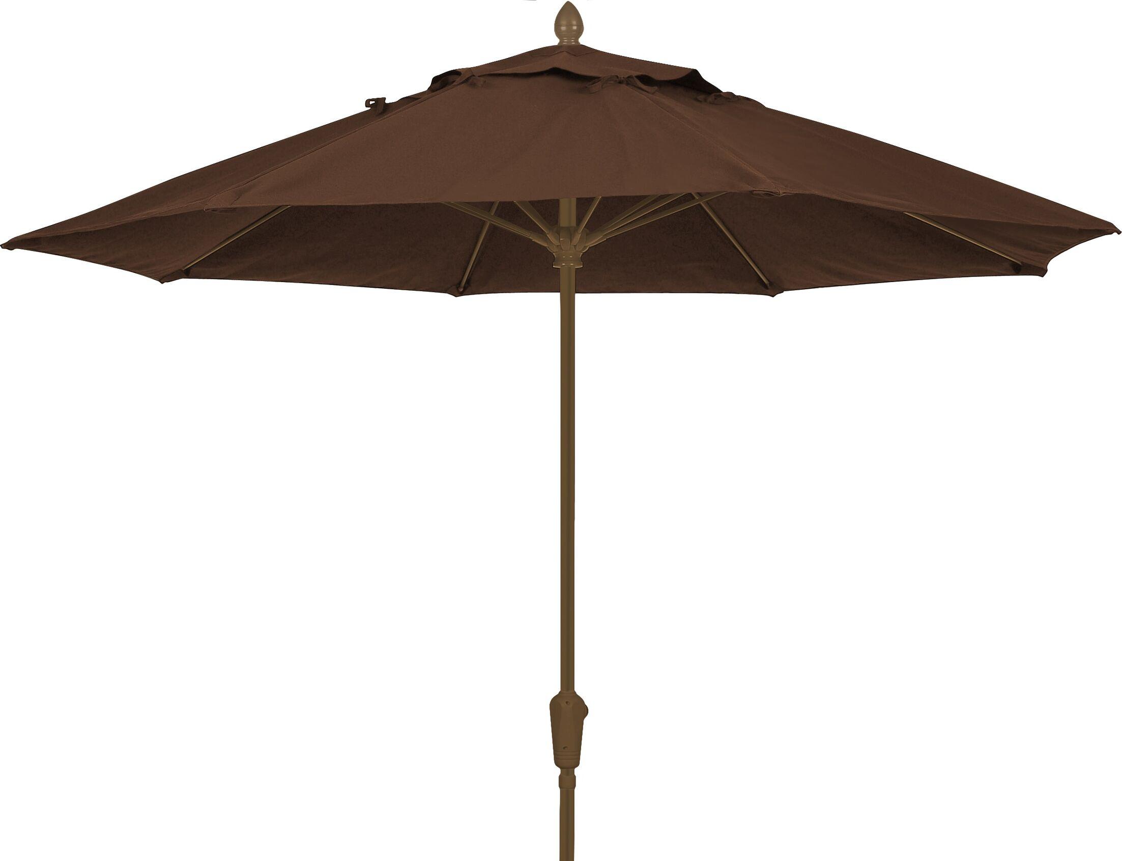 Prestige 9' Market Umbrella Frame Finish: White, Fabric: True Brown