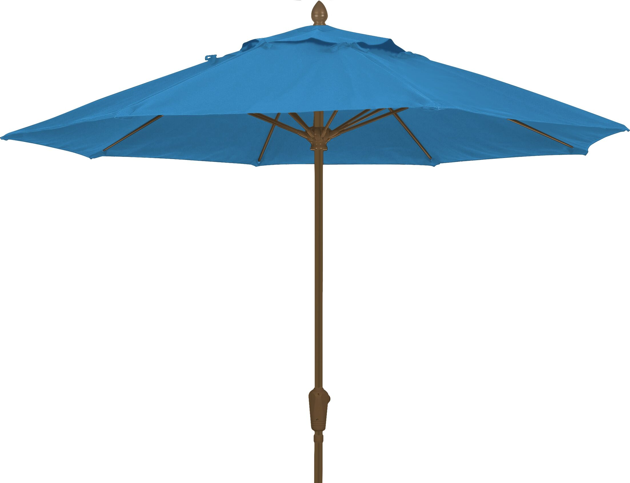 Prestige 9' Market Umbrella Frame Finish: White, Fabric: Sky Blue