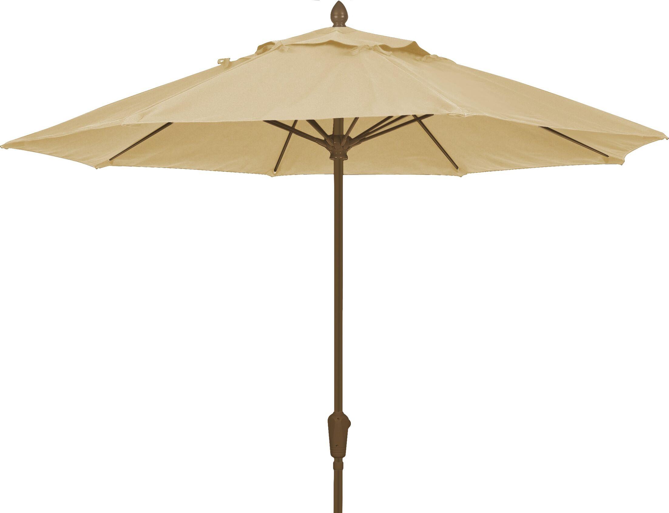 Prestige 7.5' Market Umbrella Frame Finish: Champagne Bronze, Fabric: Linen