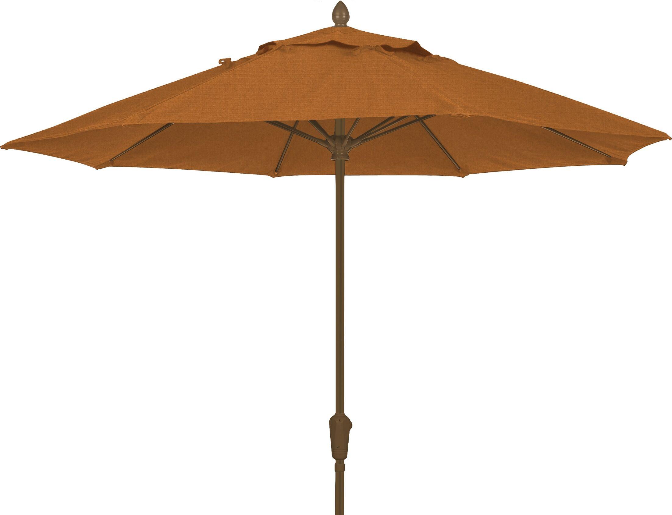Prestige 7.5' Market Umbrella Fabric: Tan, Frame Finish: Champagne Bronze