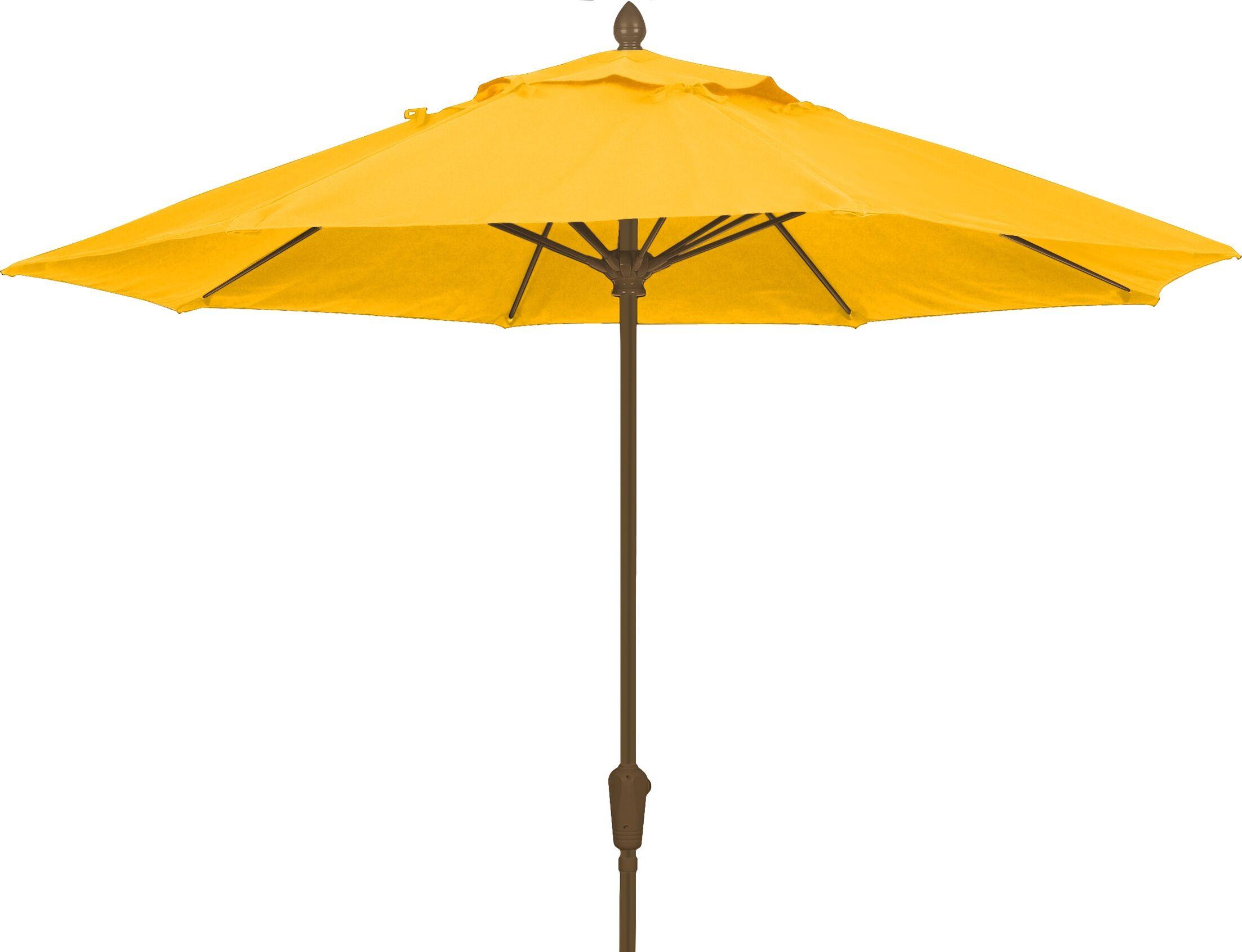 Prestige 9' Market Umbrella Frame Finish: White, Fabric: Buttercup