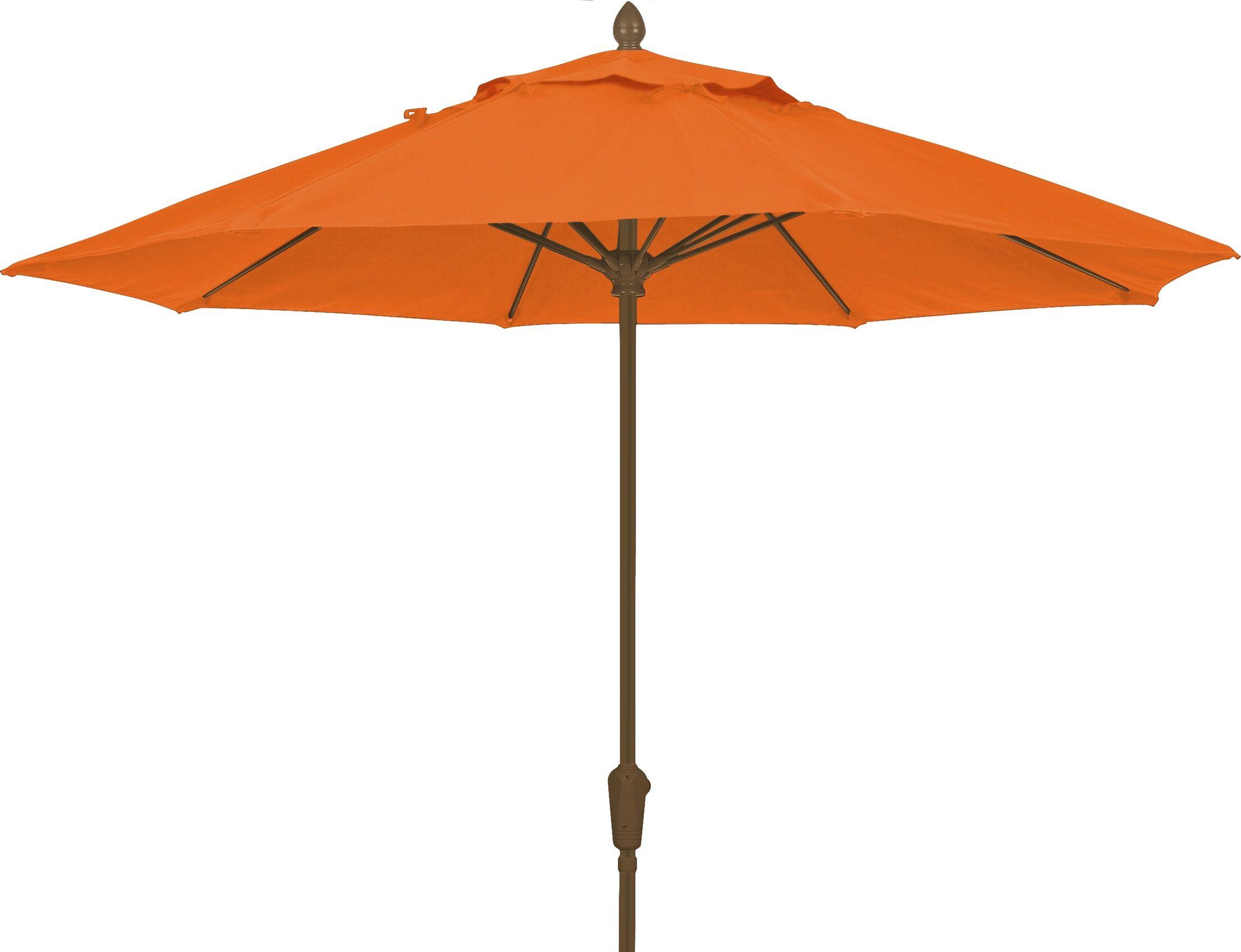 Prestige 9' Market Umbrella Fabric: Tuscan, Frame Finish: Champagne Bronze