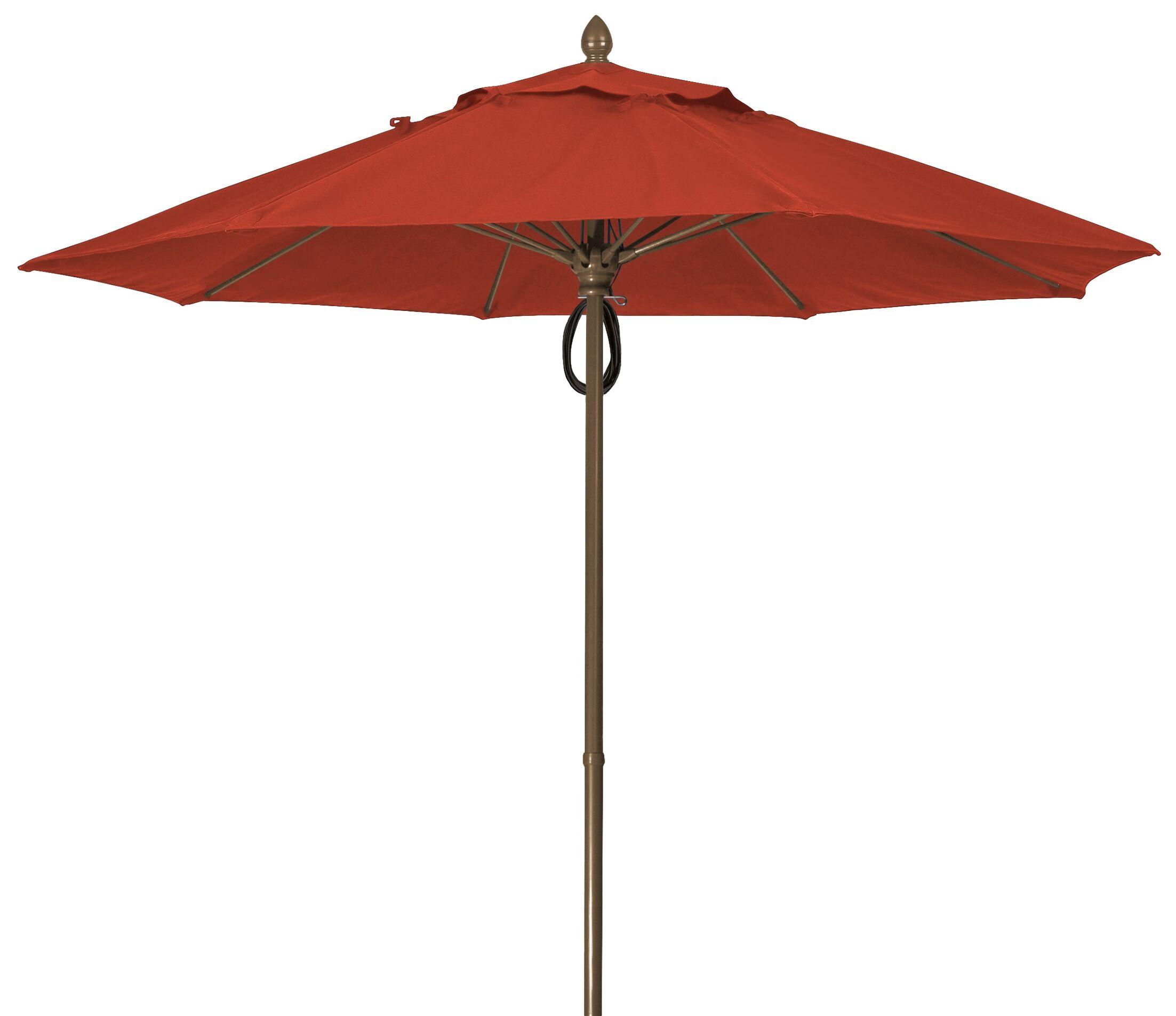 Prestige 9' Market Umbrella Frame Finish: Champagne Bronze, Fabric: Terracotta