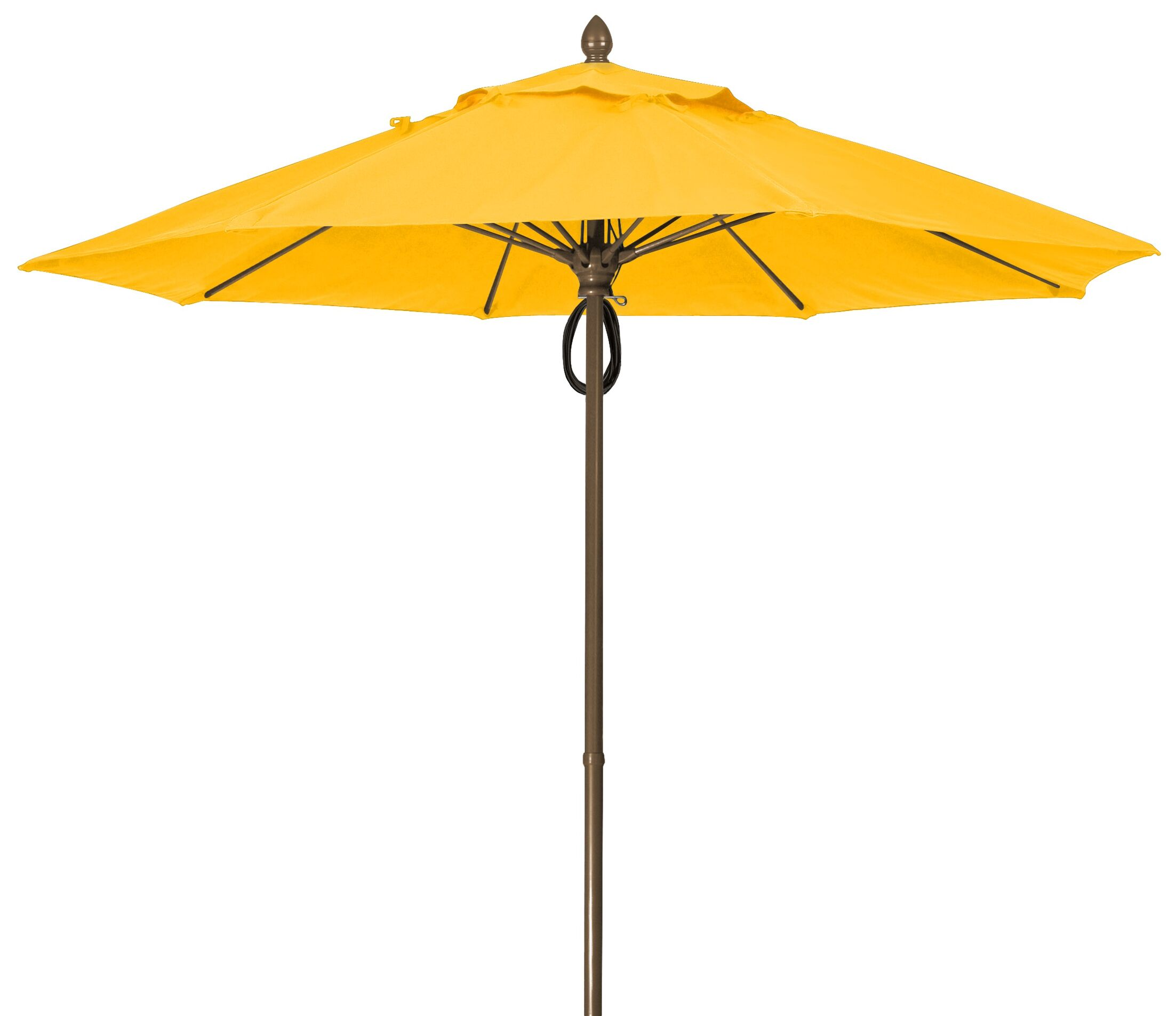 Prestige 9' Market Umbrella Frame Finish: Champagne Bronze, Fabric: Buttercup