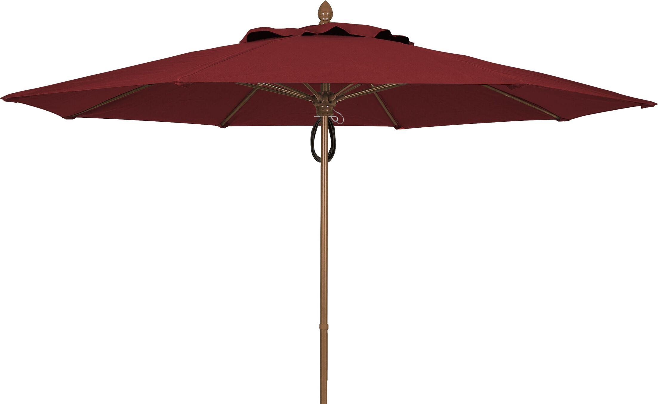 Prestige 11' Market Umbrella Frame Finish: White, Fabric: Burgundy