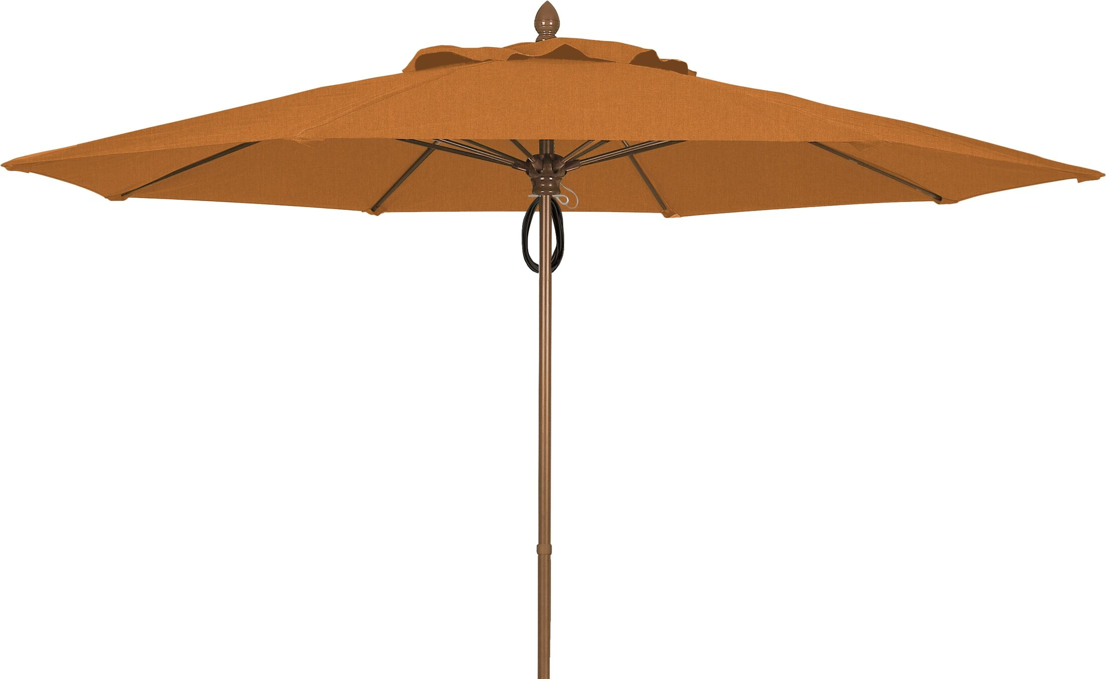 Prestige 11' Market Umbrella Frame Finish: Champagne Bronze, Fabric: Tan