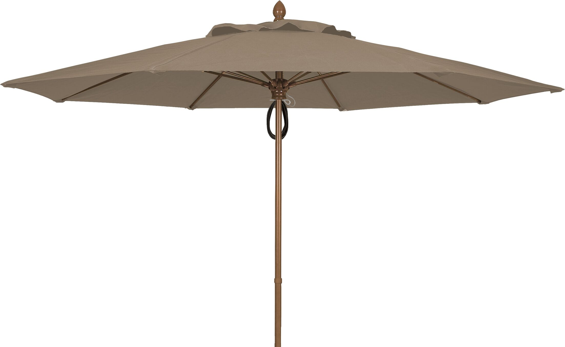 Prestige 11' Market Umbrella Frame Finish: Champagne Bronze, Fabric: Taupe