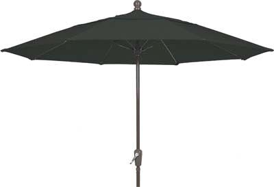 Aleron 9' Market Umbrella Fabric: Natural, Frame Finish: Champagne Bronze