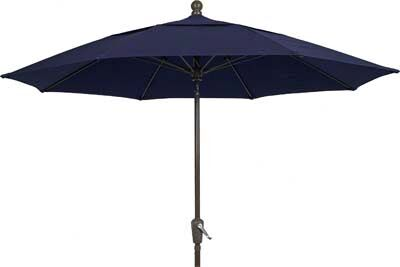 Aleron 7.5' Market Umbrella Fabric: Navy Blue, Frame Finish: Champagne
