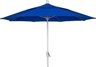 Aleron 7.5' Market Umbrella Frame Finish: White, Fabric: Pacific Blue