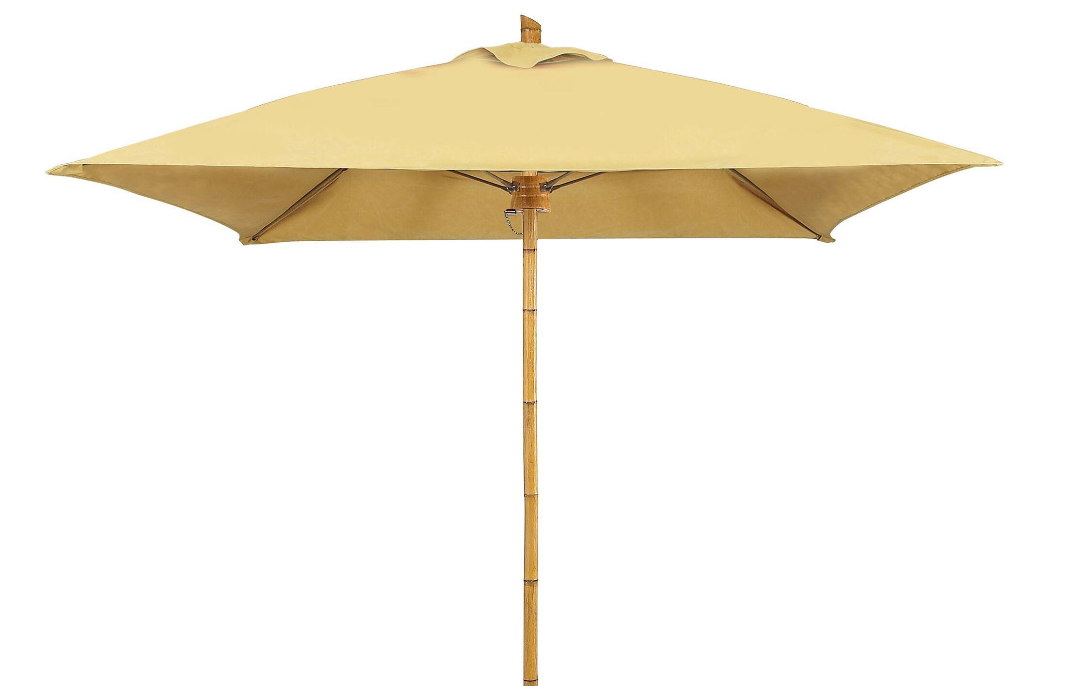 Prestige 7.5' Square Market Umbrella Fabric: Sunflower Yellow
