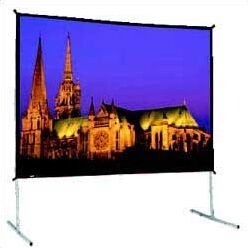 Black Fixed Frame Projection Screen Size: 67