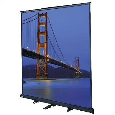 Floor Model C Matte White Manual Projection Screen Viewing Area: 8' H x 8' W