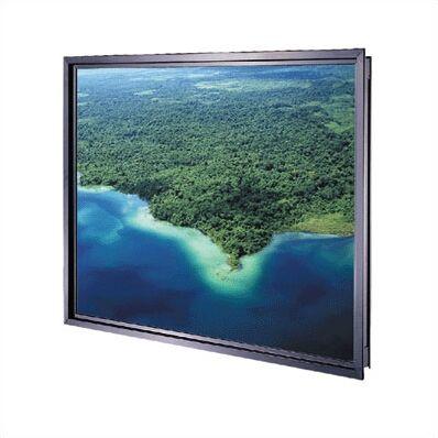 Da-Plex Rigid Rear Black Fixed Frame Projection Screen Viewing Area: 58