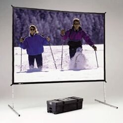 Fast Fold Deluxe Portable Projection Screen Viewing Area: 211