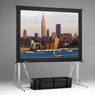 Black Portable Projection Screen Viewing Area: 7'6