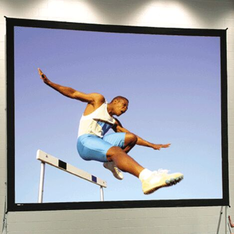 Black Portable Projection Screen Viewing Area: 8'6