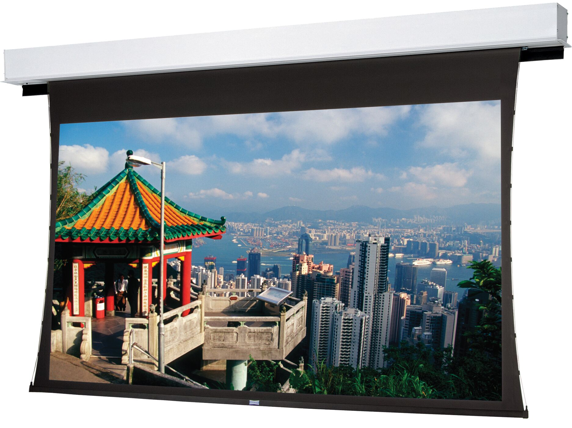 Tensioned Advantage Deluxe Electrol Electric Projection Screen Viewing Area: 65