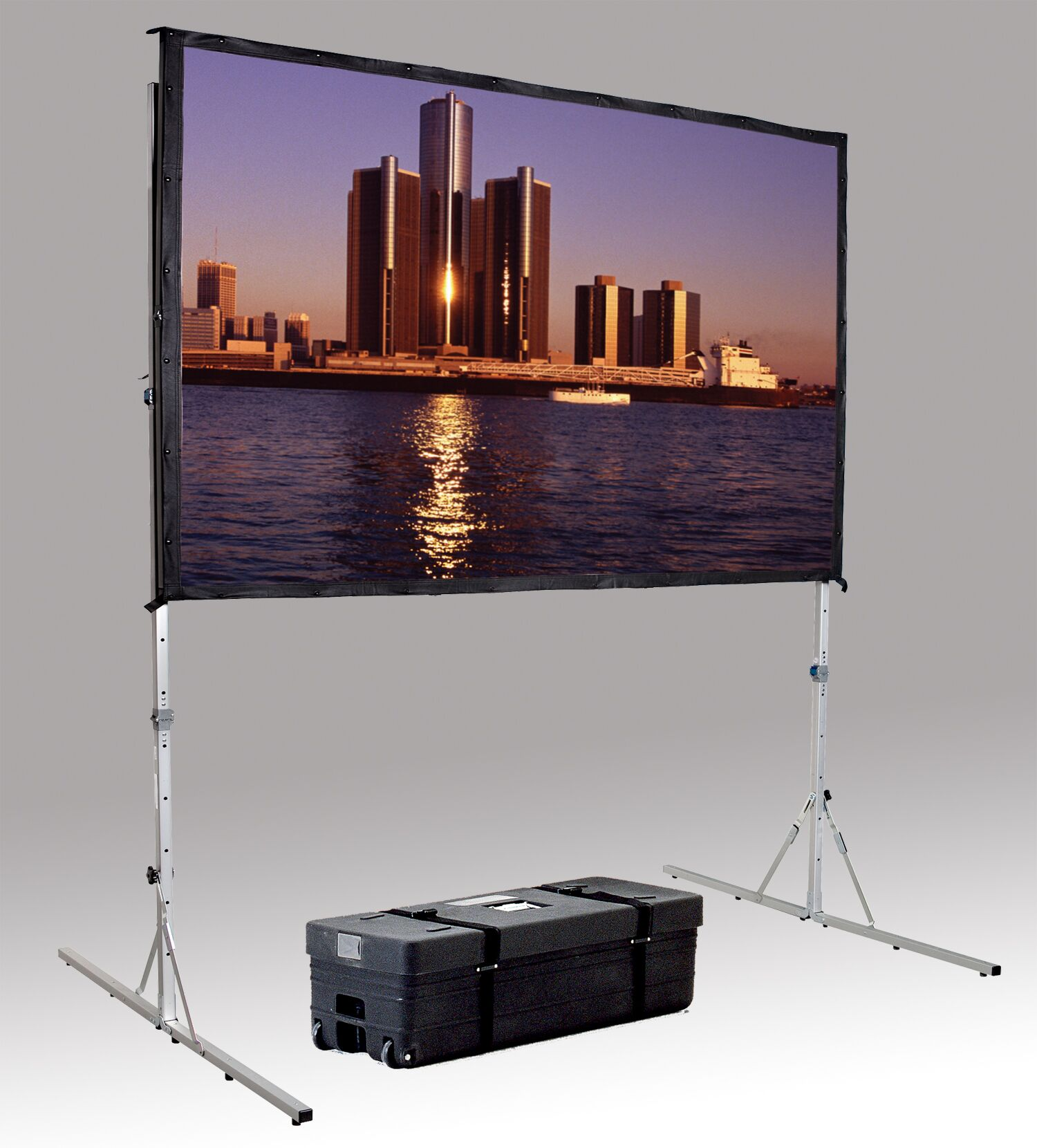 Fast Fold Deluxe Portable Projection Screen Viewing Area: 69