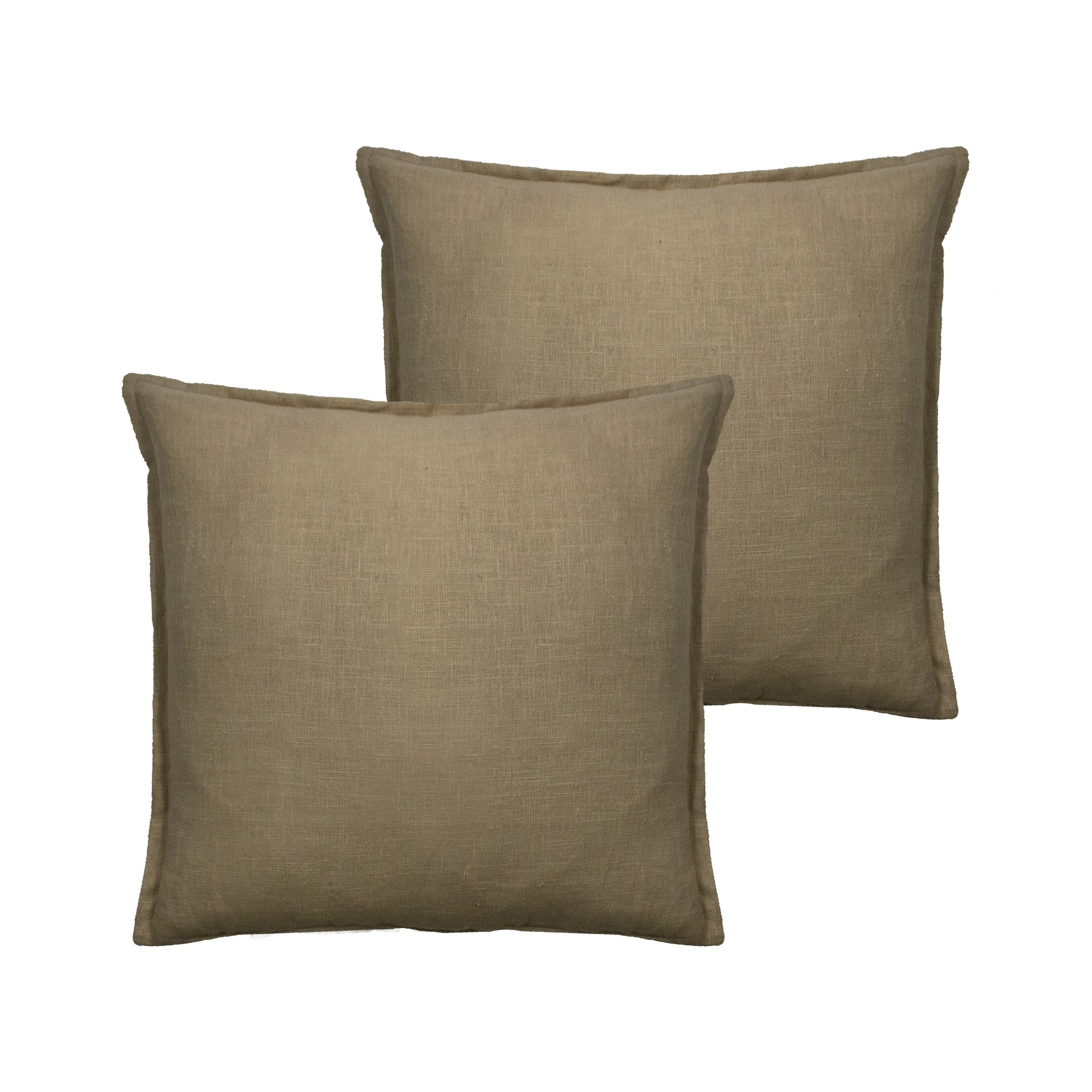 Lombard Reversible Decorative Linen Throw Pillow Color: Ecru