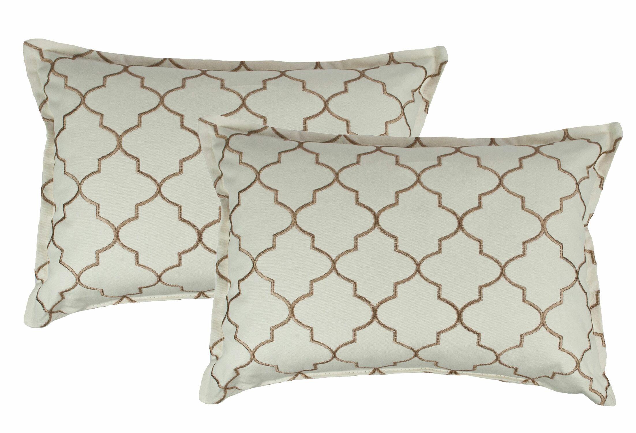 Reversible Boudoir Decorative Cotton Lumbar Pillow Color: Dark Gold