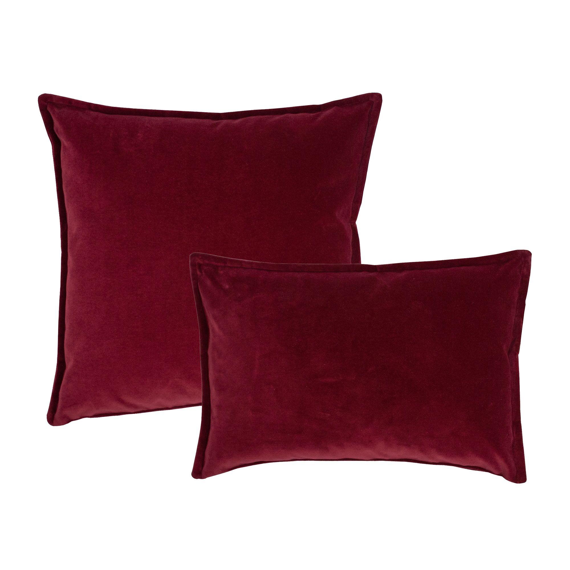 Valerie Combo Decorative 2 Piece Pillow Set Color: Red