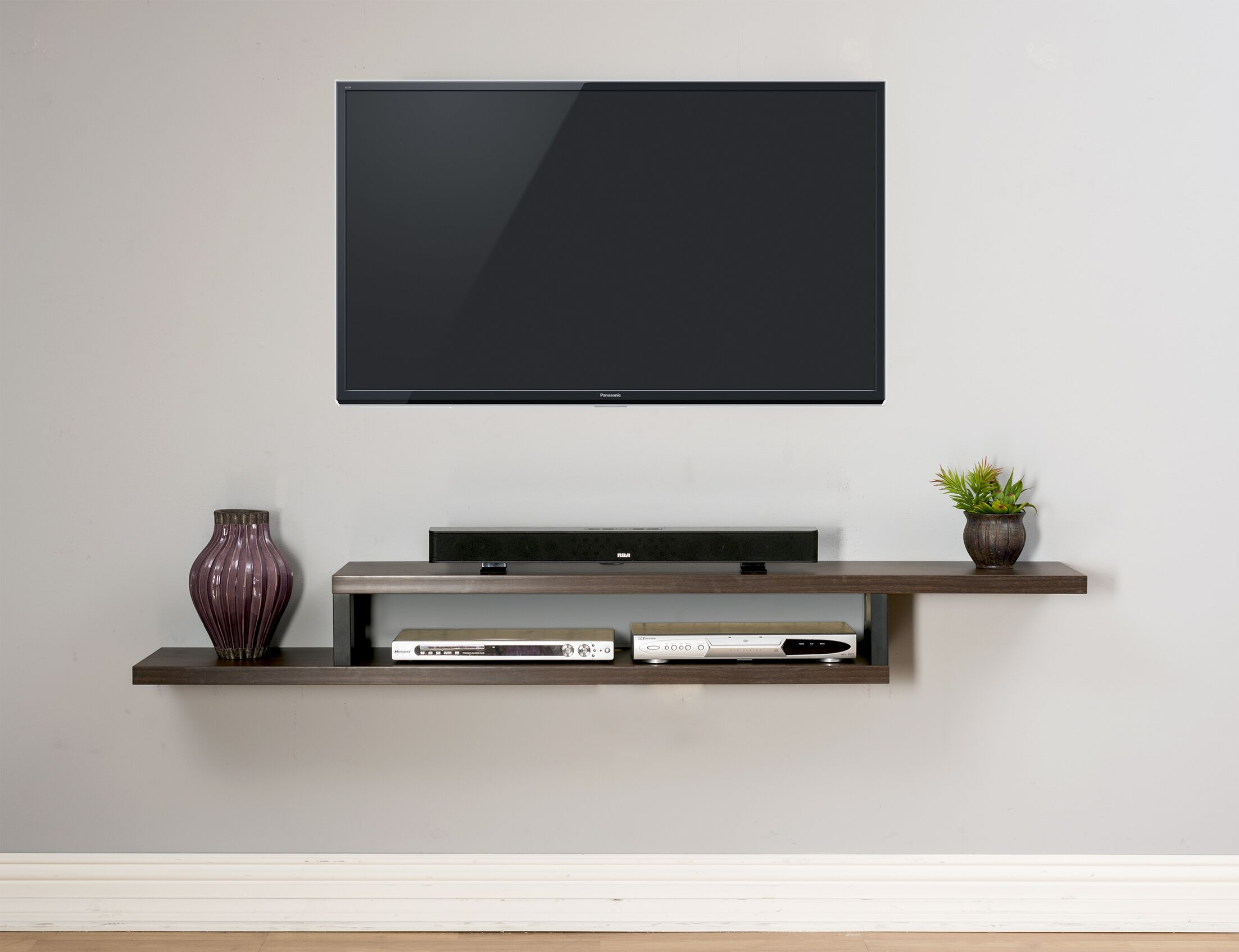 Ascend Wall Mounted TV Stand Color: Burka Bark, Width of TV Stand: 72